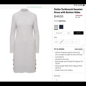 New Banana republic dress with buttons on the side